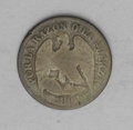 Chile: , Chile: Republic Decimo 1891, KM136.3, worn AG-Good, but a very raredate for the 2.5 gram standard type. This example weighs 2.32 g...