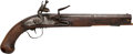 Handguns:Muzzle loading, Large Mid 18th Century .70 Caliber Flintlock Pistol ...