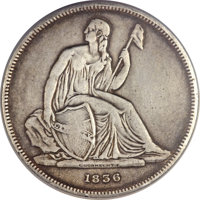 1836 P$1 Name on Base, Judd-60 Original, Pollock-65, R.1 -- Repaired, Improperly Cleaned -- NCS. VF Detail....(PCGS# 112...