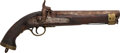 Handguns:Muzzle loading, British Horse .68 Caliber Smooth Bore Percussion Pistol....