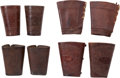 Western Expansion:Cowboy, Tooled Leather Cowhand's Cuffs: Three Matched Pairs. ... (Total: 4Items)