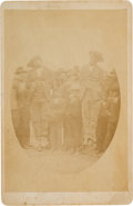 Photography:Cabinet Photos, Rare Circa 1880-1890 Cabinet Photo of a Double Hanging. ...