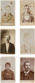 Photography:CDVs, Mug Shot Cartes-de-Visite Circa 1890's. ... (Total: 6 Items)