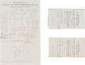 Transportation:Railroad, Early California Stage Coach Waybills.... (Total: 3 Items)