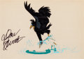 Animation Art:Production Cel, The Secret of NIMH Jeremy the Crow Production Cel Signed byDon Bluth (Don Bluth Studios, 1982).... (Total: 2 Original Art)