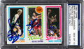 Autographs:Sports Cards, 1980 Topps Bird/Erving/Johnson PSA/DNA Gem MT 10 Signed by All Three! ...