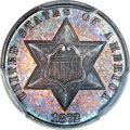 Three Cent Silver, 1872 3CS MS64 PCGS....