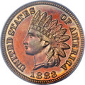 Proof Indian Cents, 1883 1C PR65 Cameo PCGS....