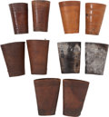 Western Expansion:Cowboy, Assorted Tooled Leather Cowhand's Cuffs as Shown. ... (Total: 5Items)