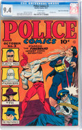 Golden Age (1938-1955):Superhero, Police Comics #3 Mile High pedigree (Quality, 1941) CGC NM 9.4 White pages....