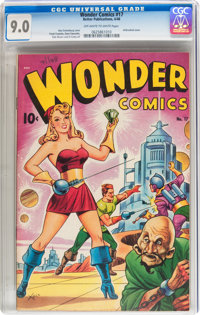 Wonder Comics #17 (Better Publications, 1948) CGC VF/NM 9.0 Off-white to white pages