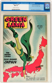 Green Lama #4 Mile High pedigree (Spark Publications, 1945) CGC NM 9.4 Off-white to white pages
