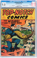 Golden Age (1938-1955):Superhero, Top-Notch Comics #7 Big Apple pedigree (MLJ, 1940) CGC VF/NM 9.0 Cream to off-white pages....