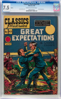 Golden Age (1938-1955):Classics Illustrated, Classics Illustrated #43 Great Expectations - HRN 62 (Gilberton, 1949) CGC VF- 7.5 Cream to off-white pages....