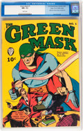 Golden Age (1938-1955):Superhero, Green Mask #1 Mile High pedigree (Fox Features Syndicate, 1940) CGC NM- 9.2 White pages....