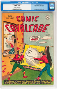 Comic Cavalcade #15 Mile High pedigree (DC, 1946) CGC FN/VF 7.0 Off-white to white pages