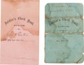 Militaria:Ephemera, Two Civil War Soldier's Check Books. ... (Total: 2 Items)