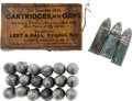 Ammunition, Leet & Hall Civil War Cartridges....