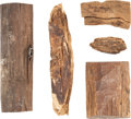 Military & Patriotic:Civil War, Gettysburg Battlefield: Five Pieces of Wood with Embedded Civil War Bullets. ... (Total: 4 Items)