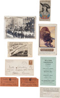 "Entertainment Collectibles:Circus, William F. ""Buffalo Bill"" Cody: Assorted Ephemera.... (Total: 9 Items)"