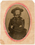 Photography:CDVs, George Armstrong Custer Tintype from a Carte de Visite....