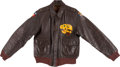 Military & Patriotic:WWII, WWII 5th Air Force A-2 Flight Jacket With Painted Squadron Insignia & Blood Chit...