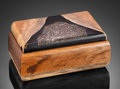 Lapidary Art:Boxes, HANDCRAFTED WOOD BOX with LEOPARDSKIN JASPER . Handcrafted in Wyoming. Stone Source: Mexico. ...