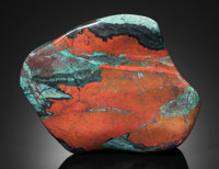 "UNIQUE ""SONORAN SUNSET"" SCULPTURE: CHRYSOCOLLA & CUPRITE Milpillas Mine, Sonora, Mexico"