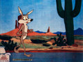 Animation Art:Production Cel, Adventures of the Road Runner Wile E. Coyote Production Cel(Warner Brothers, 1962)....