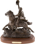 Miscellaneous, Sam Houston: A Dramatic Bronze Statue of Him on Horseback, Signedby Sculptor Mark Story....