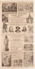 Entertainment Collectibles:Movie, George Armstrong Custer et al: Vintage Advertisements.... (Total: 4)