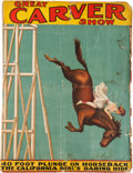 "Entertainment Collectibles:Circus, William Frank ""Doc"" Craver: Diving Horse Show Ephemera...."