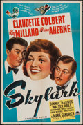 "Movie Posters:Comedy, Skylark (Paramount, 1941). One Sheet (27"" X 41""). Comedy.. ..."