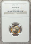 Roosevelt Dimes, 1958 10C MS67 ★ Full Bands NGC....