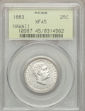 Coins of Hawaii: , 1883 25C Hawaii Quarter XF45 PCGS. PCGS Population (105/1545). NGCCensus: (39/1116). Mintage: 500,000. ...