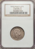 Coins of Hawaii: , 1883 25C Hawaii Quarter AU55 NGC. NGC Census: (65/1002). PCGSPopulation (114/1295). Mintage: 500,000. ...