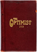 Books:Periodicals, [Grace Drayton, illustrator; Campbell Soup Kids]. The Optimist, 1916. Camden, Joseph Campbell Company, 1916. First e...