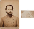 Photography:Cabinet Photos, General John Rogers Cooke: Cabinet Card and Endorsement Signed....(Total: 2 )
