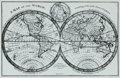 "Books:Maps & Atlases, [Maps]. Photograph of a World Map, circa 1781. Measures 14"" x 11"".Some handling wear. Near fine. . ..."