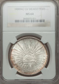 Mexico, Mexico: Republic Peso 1909 Mo-GV MS64 NGC,...