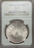 Mexico, Mexico: Republic Peso 1898 Go-RS MS63 NGC,...