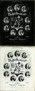 Books:Prints & Leaves, [Baseball]. Photographs of a Lithograph of the Cincinnati RedStockings. Originally published by Snyder, Black and Stern in ...