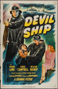 "Movie Posters:Crime, Devil Ship (Columbia, 1947). One Sheet (27"" X 41""). Crime.. ..."