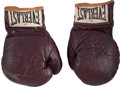 Boxing Collectibles:Memorabilia, 1971 Muhammad Ali Fight Worn Gloves from First Joe Frazier Bout....