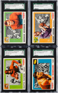 Football Cards:Sets, 1955 Topps All American Football Near Set (93/100). ...