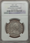 Early Half Dollars, 1801 50C O-101, R.3 -- Improperly Cleaned -- NGC Details. Fine....