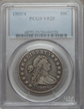Early Half Dollars, 1805/4 50C O-102, R.3, VF25 PCGS....