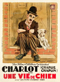 "Movie Posters:Comedy, A Dog's Life (Les Filmes Celebres, 1918). French Grande (46.5"" X 63.25"").. ..."