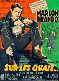 "On the Waterfront (Columbia, 1954). French Grande (45.25"" X 62"") Style B"