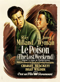 "Movie Posters:Academy Award Winners, The Lost Weekend (Paramount, 1945). French Grande (46.75"" X63.5"").. ..."